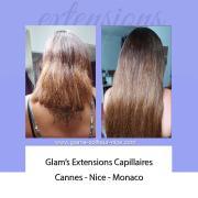 Subtilité des extensions sur des cheveux.