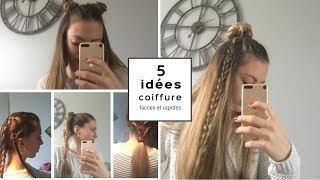 [TUTO ] 5 idées coiffures faciles et rapides pour le collège, lycée...