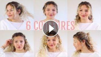 6 Coiffures Faciles Cheveux Bouclés