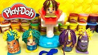 Coiffures Magiques Play Doh Cheveux Longs et Colorés en Pâte à Modeler avec Minion Rigolo